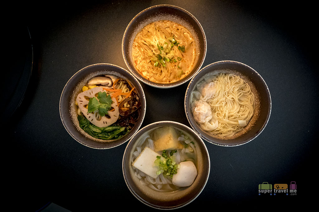 Cathay Pacific - The Deck - Hong Kong International Airport - Noodle Bar dishes
