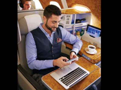 Emirates Smartphone onboard