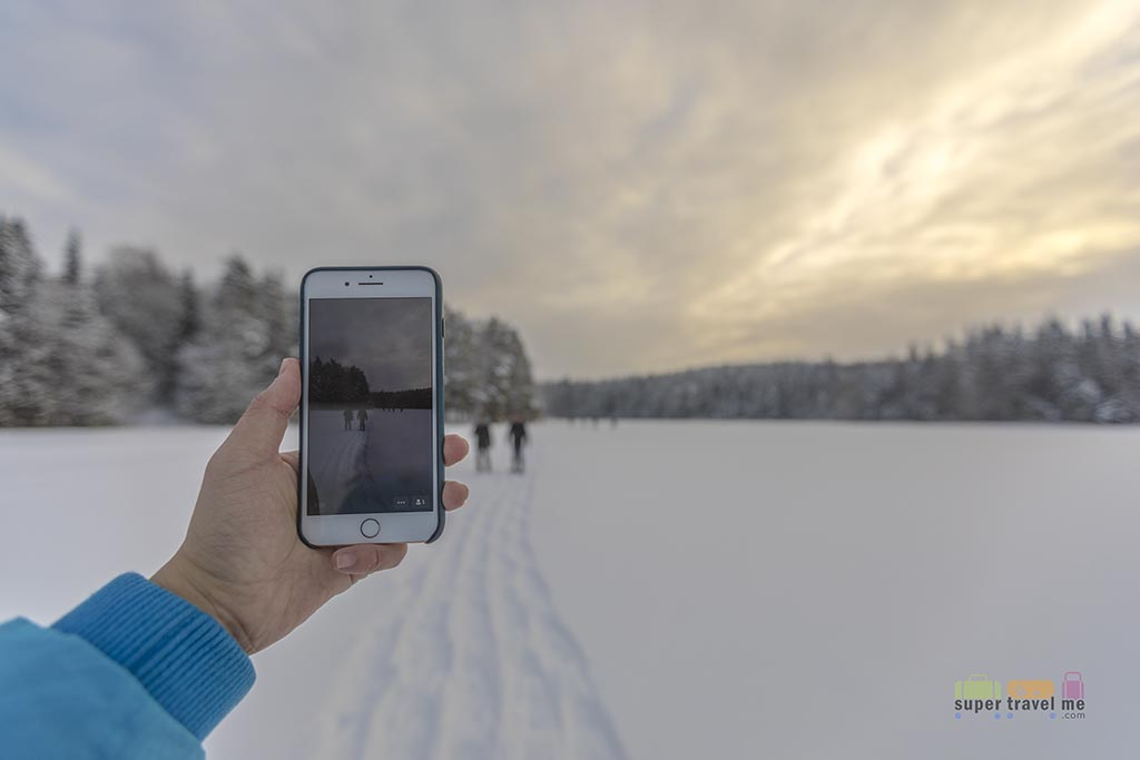 Roaming Man - Going live on social media in Espoo, Finland