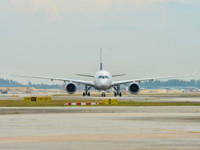 Lufthansa A350-900 in Singapore Changi Airport (Lufthansa photo)