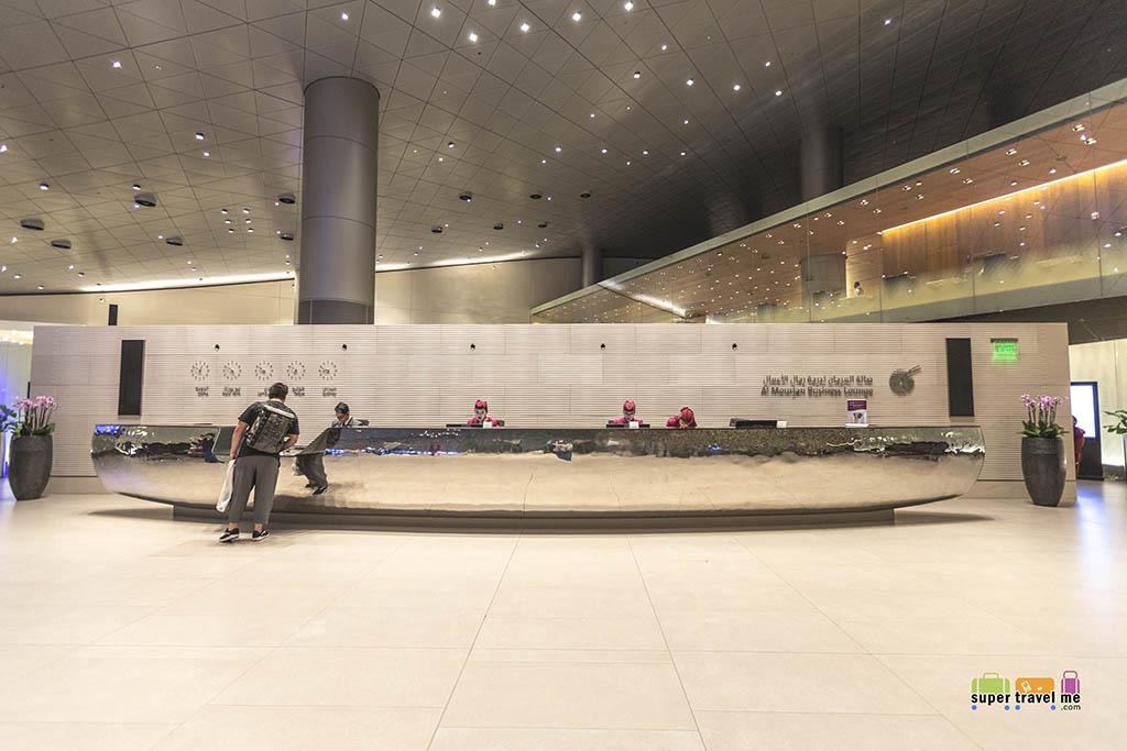 Qatar Airways Business Class lounge in Doha Airport