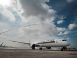 SIA New Boeing 787-10 in Singapore