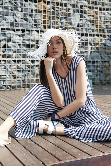 Purchase the SO Sofitel Hua Hin x ASAVA striped dress as a souvenir at the SO Sofitel Hua Hin boutique.