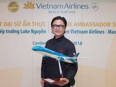 Australian-Vietnamese Chef Luke Nguyen has been enlisted as Vietnam Airlines' first Global Cuisine Ambassador. (Vietnam Airlines photo)