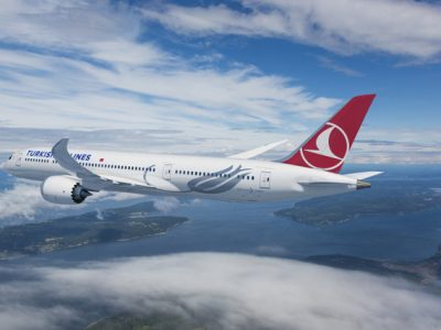 Boeing [NYSE:BA] and Turkish Airlines announced they have finalized a firm order for 25 787-9 Dreamliners with options for five more airplanes. This rendering shows the airplane in Turkish Airlines livery. (Boeing illustration) (PRNewsfoto/Boeing)