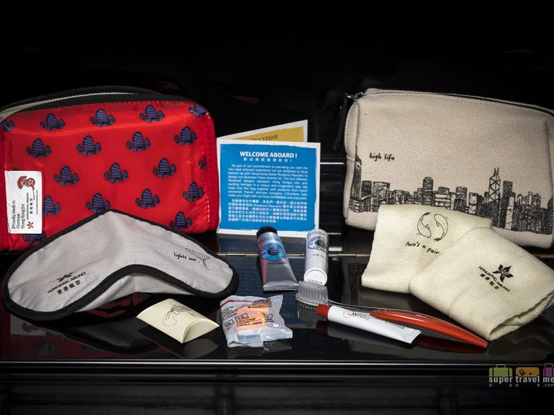 HK Airlines Amenity Kit and contents