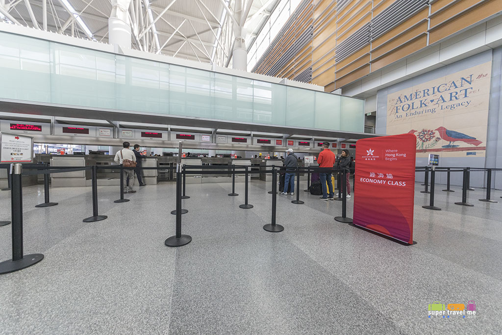 Hong Kong Airlines Check in Counter at San Francisco Airport
