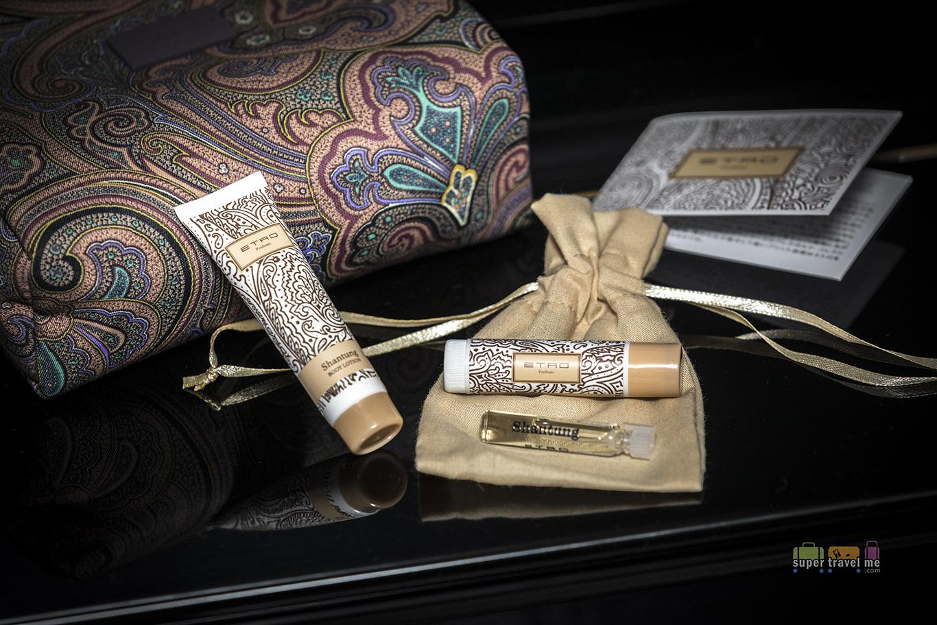 ETRO moisturiser, lip balm and Eau de Parfum