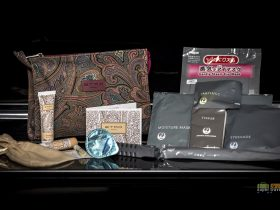 JAL Etro Amenity Kit contents