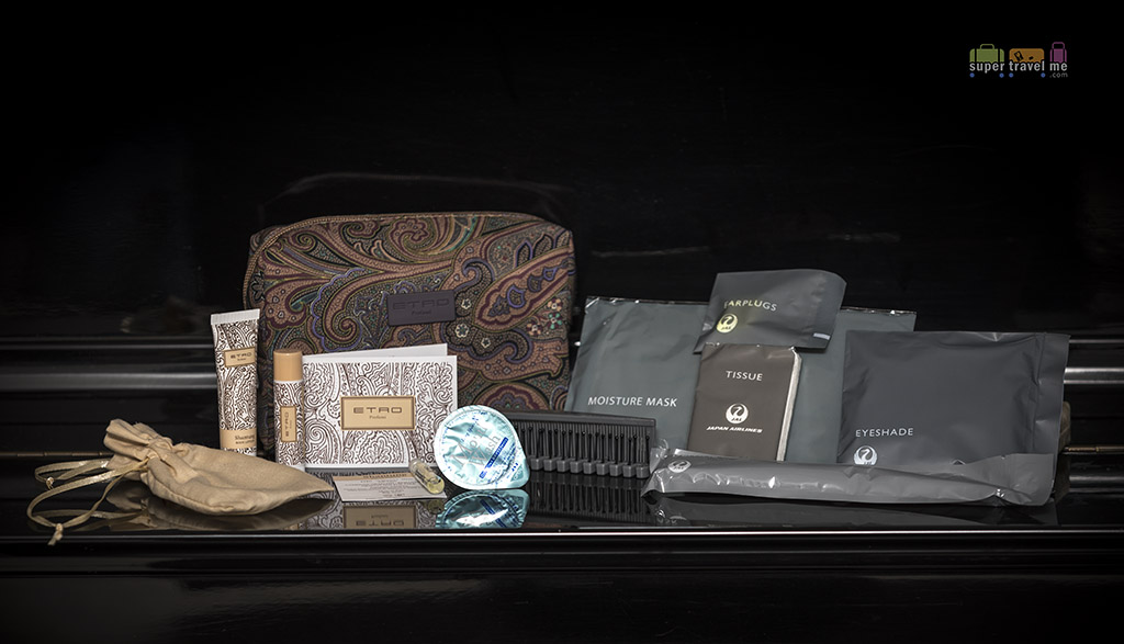 JAL Etro Amenity Kit contents 3420
