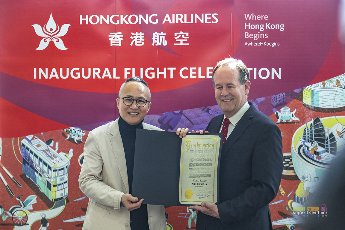 25 March was declared as Hong Kong Airlines Day declared by the Mayor of San Francisco