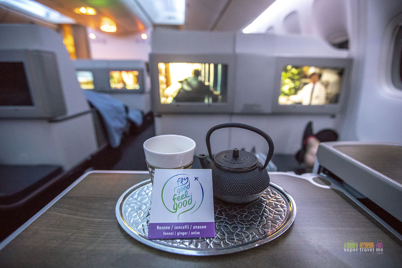 Turkish Airlines Fly Good Feel Good Teas in Business Class