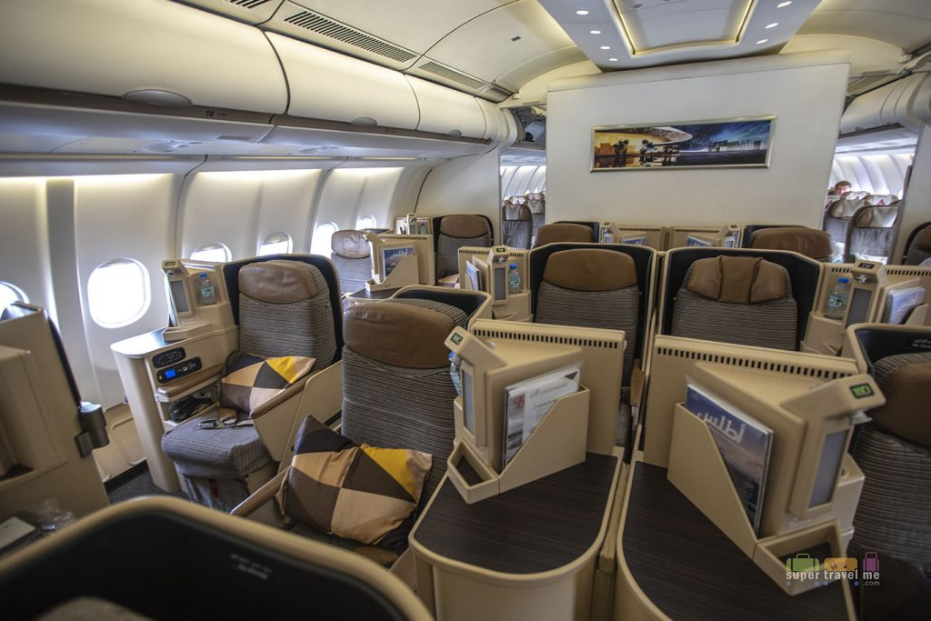 Pearl Business Class seat configuration onboard Etihad Airways A330-300 aircraft