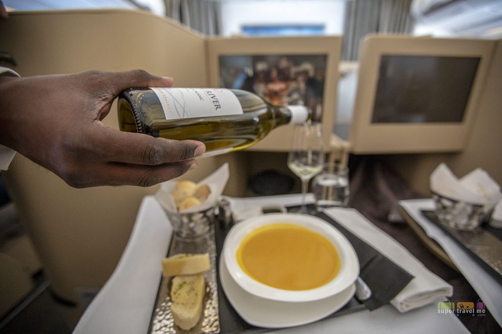 Etihad Airways EY2 Butternut Squash Soup appetiser