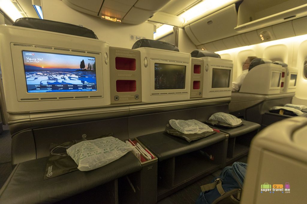 Turkish Airlines Business Class in its B777-300ER aircraft.