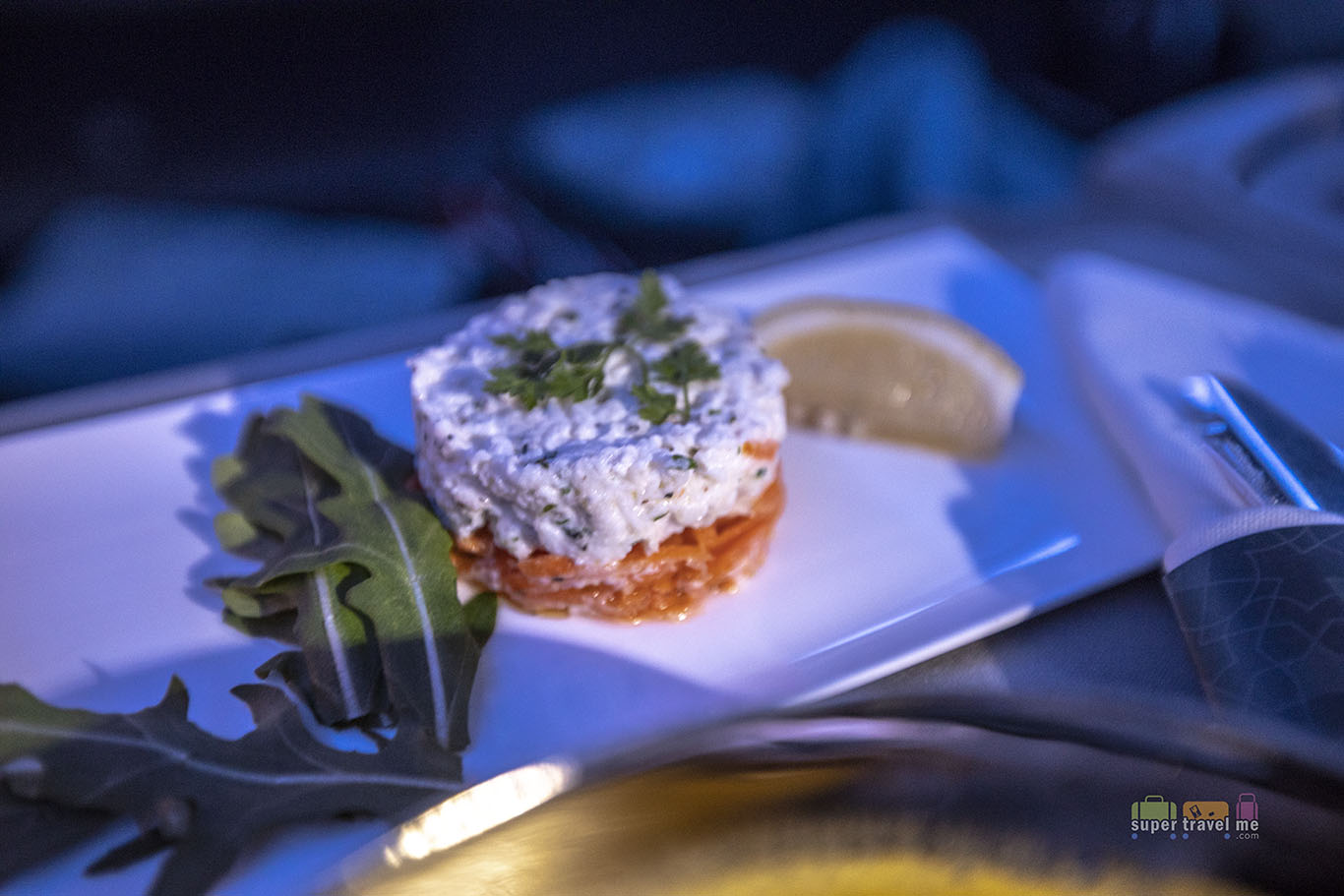 Crab Remoulade served onboard Turkish Airlines TK55 from Singapore to Istanbul