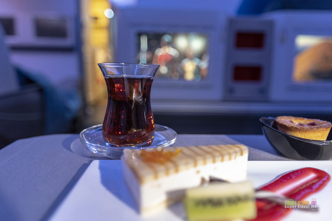 Enjoy a cuppa Turkish Tea on board Turkish Airlines