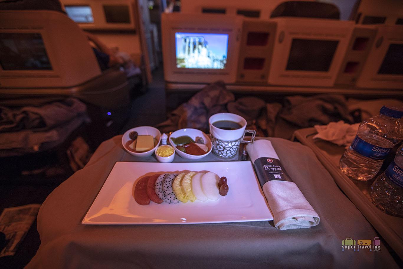 Fresh Fruit Salad onboard Turkish Airline