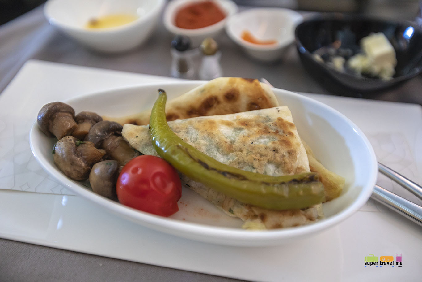 """""""Gözleme"""" Grilled Flat Pastry stiffed with white cheese and leaf spinach"""