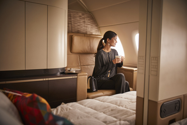 NEW ETIHAD LOUNGEWEAR FIRST CLASS APARTMENT A380