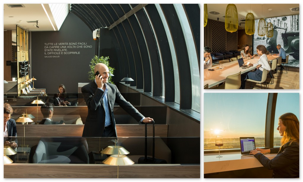 Spaces at the new Star Alliance Lounge in Rome (Star Alliance photo)