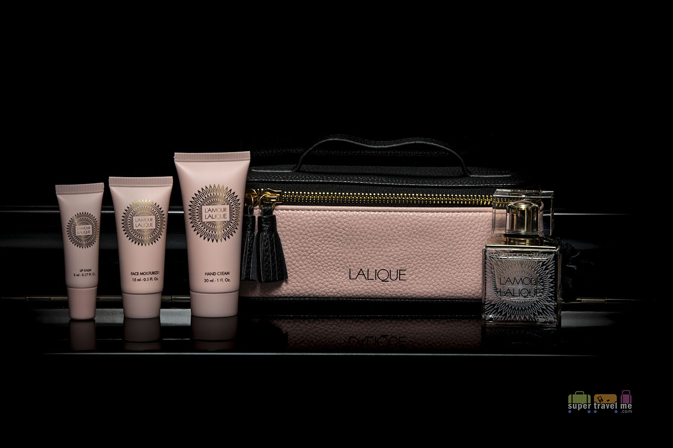 Singapore Airlines First Class Lalique Amenity Kit for Ladies