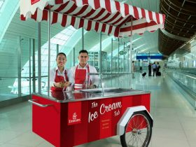 Summer just got cooler with Emirates' complimentary ice cream service (Emirates photo)