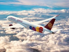 """The first Boeing 787 Juneyao receives will feature the """"Chinese Peony"""" livery."""