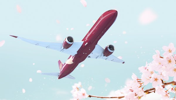 """The """"Chinese Red"""" livery for Juneyao's Boeing 787."""