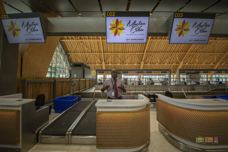 Check in counters at the new Mactan Cebu International Airport