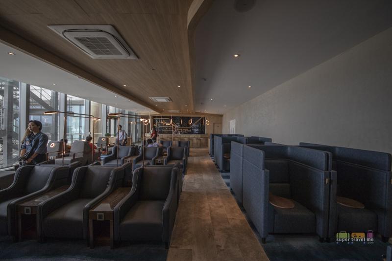 Seating area in Plaza Premium Lounge at Mactan Cebu International Airport