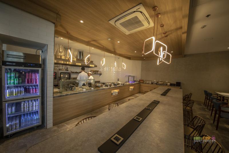 Dining area at the Plaza Premium Lounge in Mactan Cebu International Airport