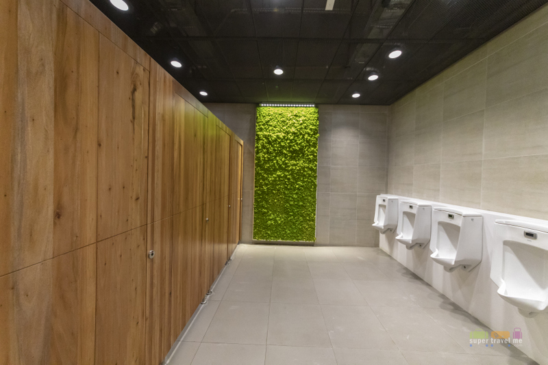 Wet moss and bidets in restrooms at Mactan Cebu International Airport