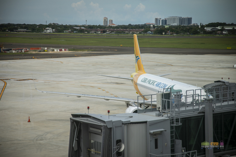 A Cebu Pacific aircraft at Mactan Cebu International Airport Terminal 2