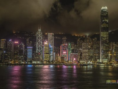 Night Hong Kong Island Skyline