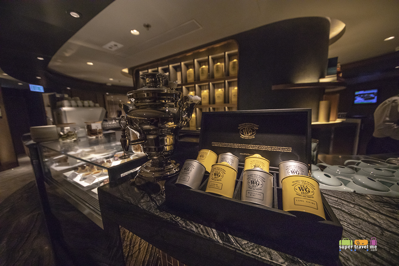TWG Teas served at the Plaza Premium First Hong Kong Lounge