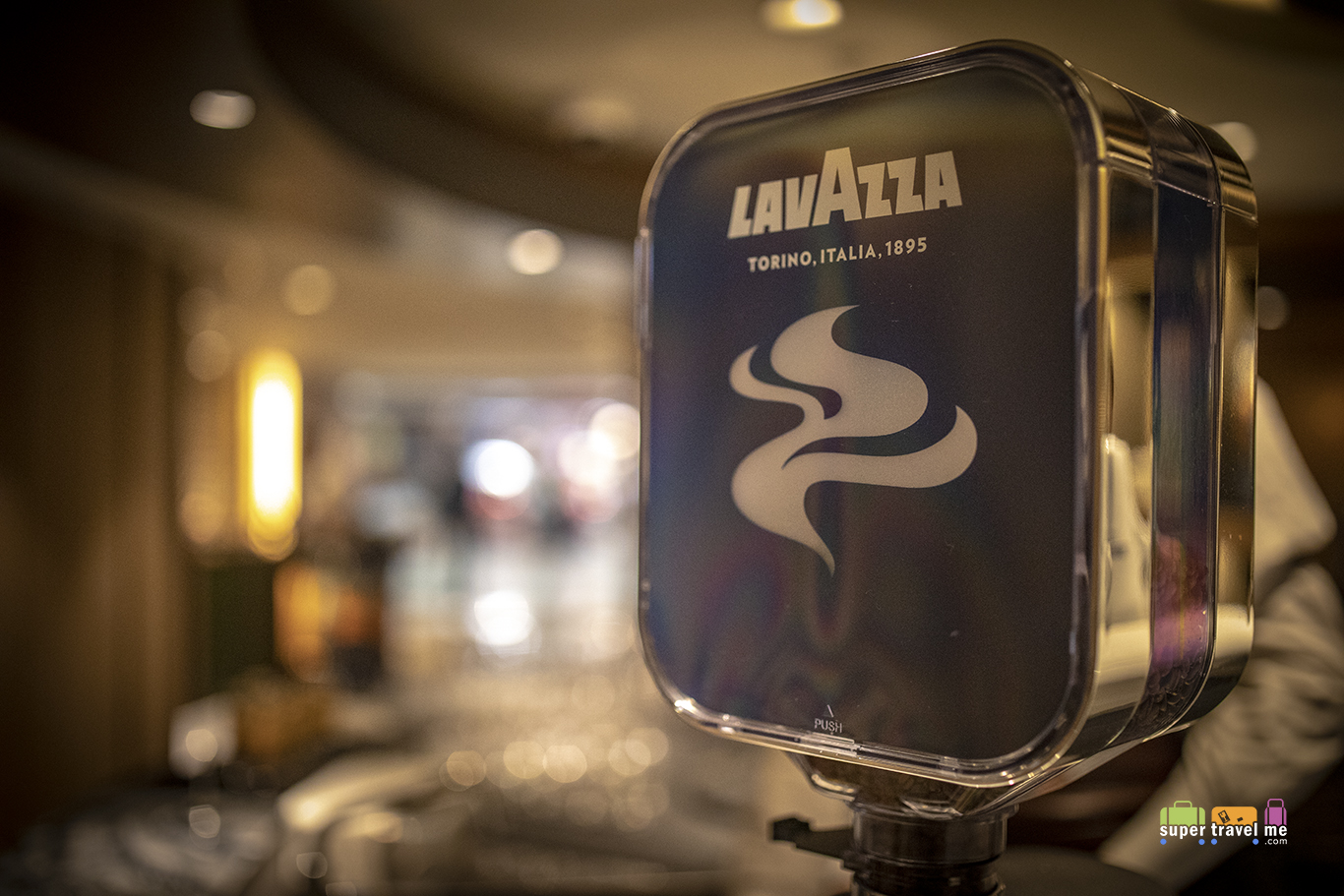 Lavazza Coffee served at AeroBar in Plaza Premium First Hong Kong