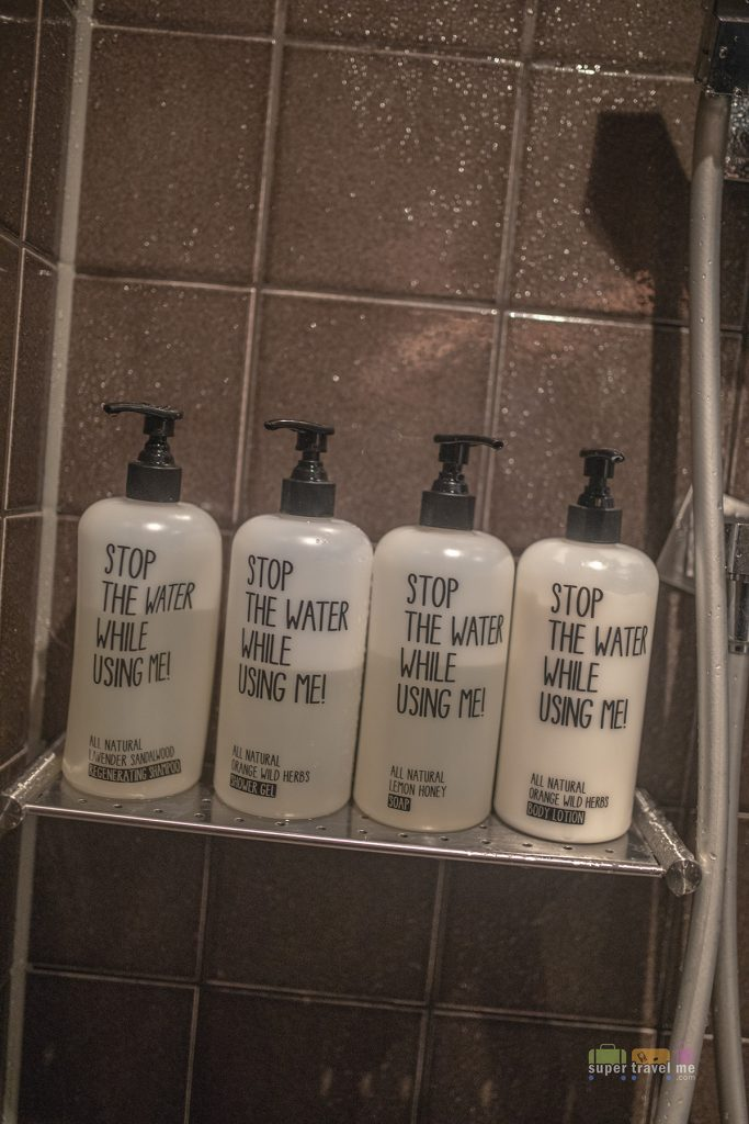 Stop the Water While Using Me toiletries