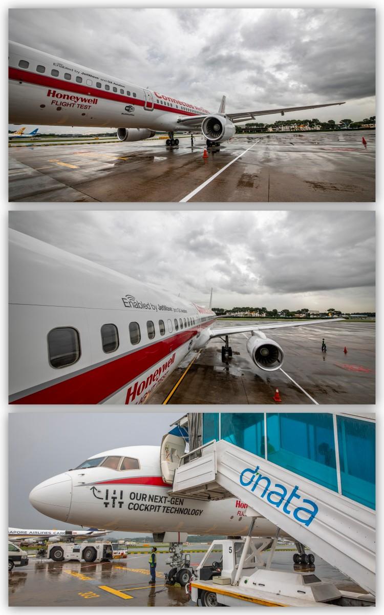 Honeywell B757 Test Plane in Changi Airport 27 June 2018