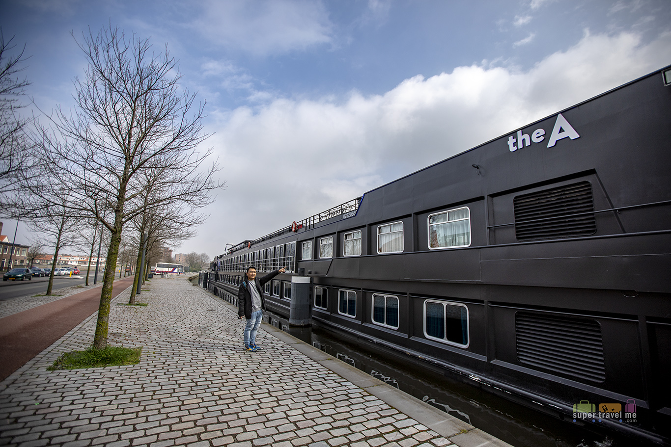 U by Uniworld's The A river cruise ship docked at Haarlem, The Netherlands