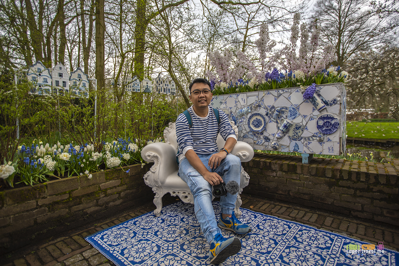 Delft Blue Garden at Keukenhof 2018 Season