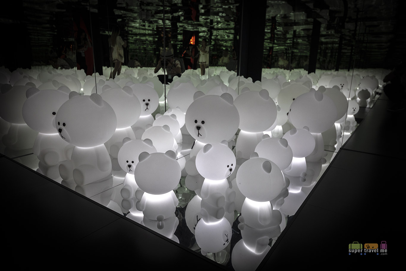 The Infinity mirrored art installation room at LINE VILLAGE BANGKOK