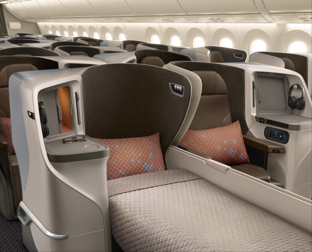 Singapore Airlines Stella Aerospace Regional Business Class seats (SIA photo)