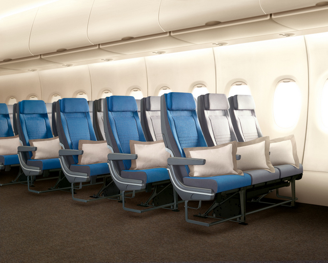 Singapore Airlines RECARO Economy Class Seats (SIA photo)
