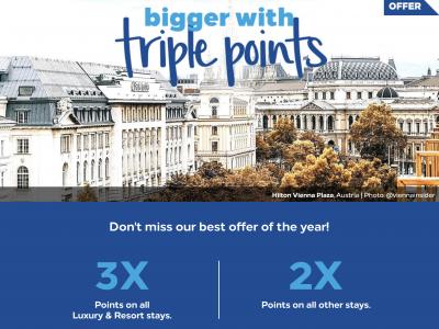 Hilton Honors triple points