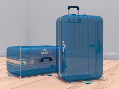 KLM's Augmented Reality hand baggage check now available in Messenger (KLM Photo)