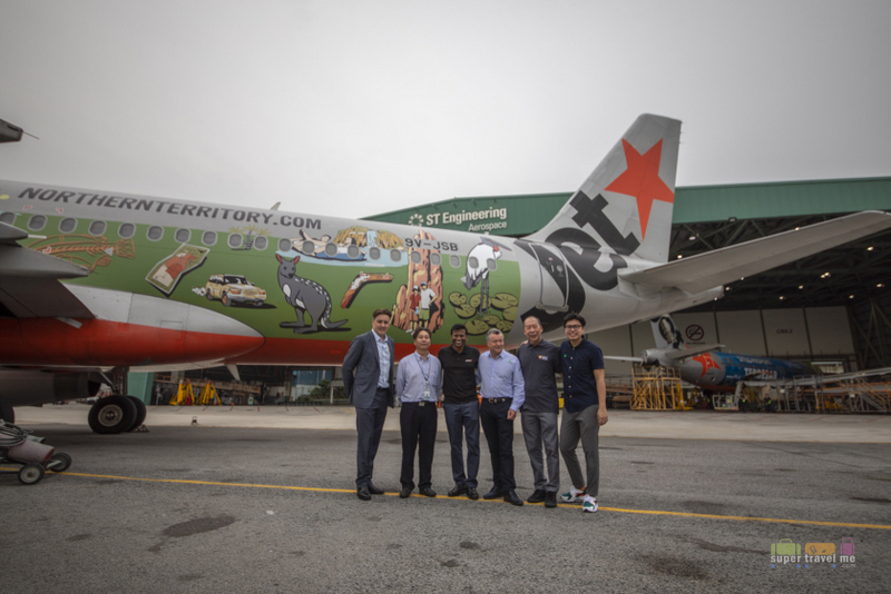 Jetstar Asia Special Northern Territory livery