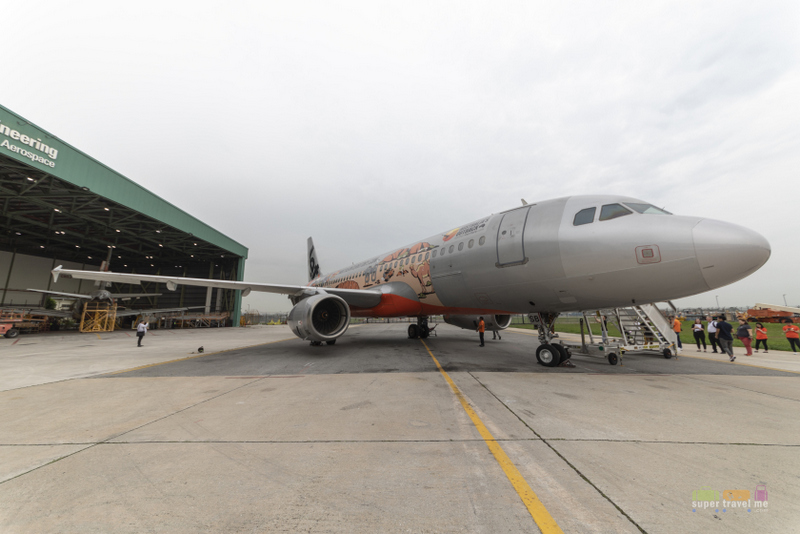 Jetstar Asia's latest special livery featuring Northern Territory unveiled on 18 October 2018