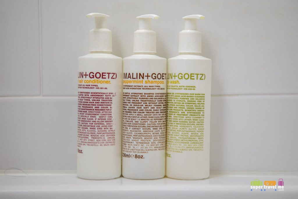 Malin + Goetz toiletries provided at Siam at Siam Bangkok.