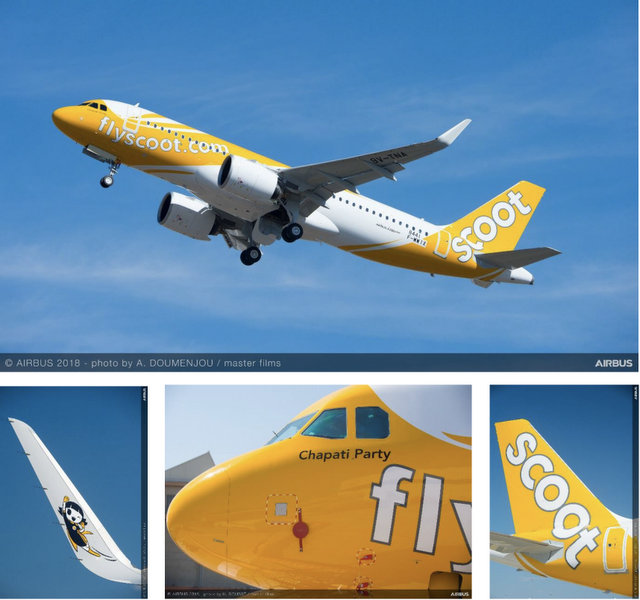 Scoot A320neo Chapati Party (Airbus)